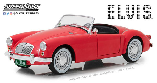 1/18 Elvis Presley (1935-77) - 1959 MG A 1600 Roadster MkI (as driven in musical comedy film Blue Hawaii)[グリーンライト]《08月仮予約》