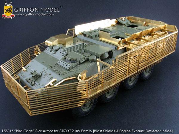 """1/35 アメリカ軍 ストライカー装甲車ファミリー用""""バードケージ""""スラットアーマー エッチングパーツ[Griffon Model]《取り寄せ※暫定》"""