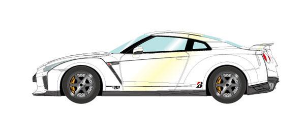 1/43 日産 GT-R 2017 TE037 wheel Ver. ブリリアントホワイトパール[メイクアップ]【送料無料】《取り寄せ※暫定》