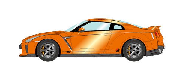 1/43 日産 GT-R 2017 TE037 wheel Ver. アルティメイトシャイニーオレンジ[メイクアップ]【送料無料】《取り寄せ※暫定》