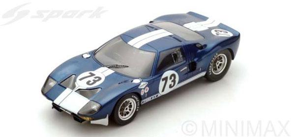 1/18 フォード GT No.73 Winner Daytona 2000km 1965[スパーク]《12月仮予約》