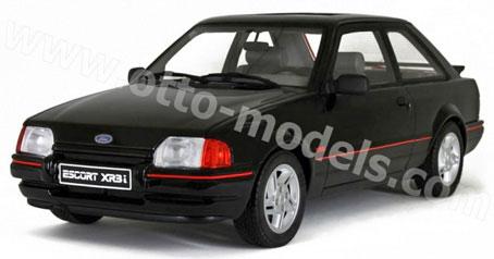 1/18 フォード エスコート XR3i(ブラック)[OttO mobile]《取り寄せ※暫定》