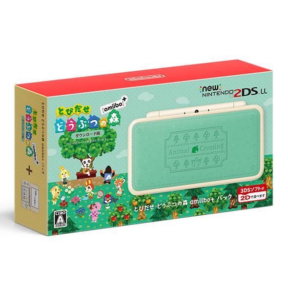 Newニンテンドー2DS LL とびだせ どうぶつの森 amiibo+パック[任天堂]【送料無料】《発売済・在庫品》