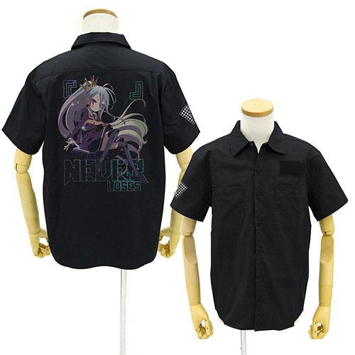 ノーゲーム・ノーライフ 「白」 フルカラーワークシャツ/BLACK-XL(再販)[コスパ]《03月予約》