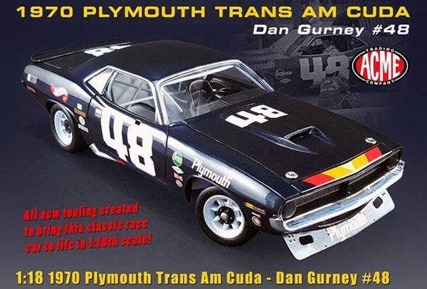1/18 #48 Dan Gurney 1970 Trans Am Cuda[ACME]【送料無料】《11月仮予約》