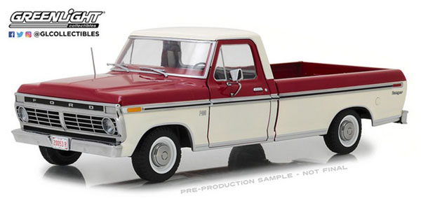 1/18 1972 Ford F-100 Truck - Red and White Two-Tone[グリーンライト]《11月仮予約》