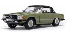 1/18 メルセデス・ベンツ 350 SL クローズド コンバーチブル 1977 Cypress グリーン[サンスター]《取り寄せ※暫定》