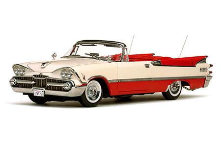 1/18 ダッジ カスタム ローヤル ランサー オープン コンバーチブル 1959 Poppy パール(再販)[サンスター]《09月仮予約》
