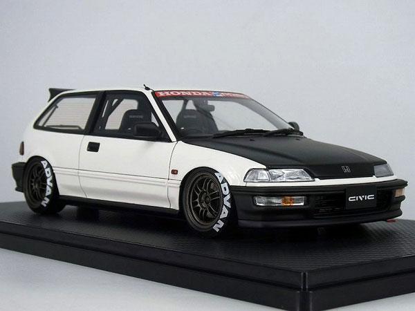 1/18 Honda CIVIC (EF9) SiR White/BlacK[イグニッションモデル]【送料無料】《02月予約》