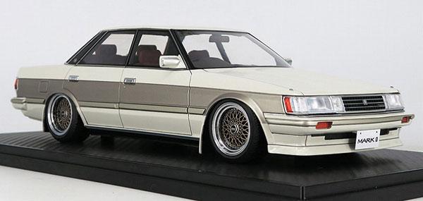 1/18 Toyota Mark II Grande (GX71) White/Gold(BBS RSタイプ17インチホイール)[イグニッションモデル]【送料無料】《03月予約》