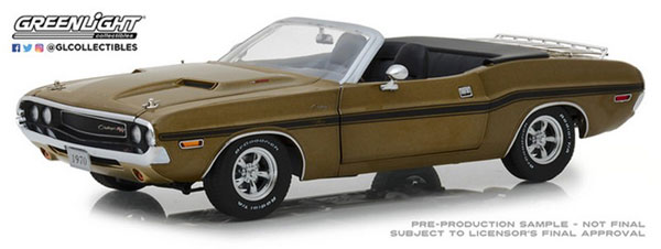 1/18 1970 Dodge Challenger R/T Convertible with Luggage Rack - Y6 Gold Poly[グリーンライト]《12月仮予約》