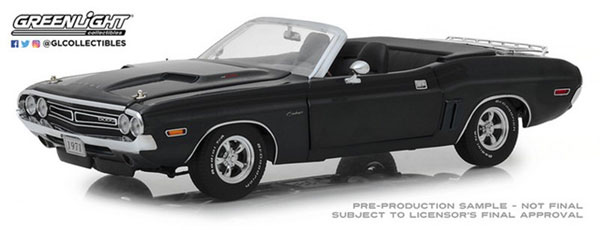1971 Dodge Challenger R/T Convertible with Luggage Rack - A8 Gunmetal Gray Poly[グリーンライト]《12月仮予約》
