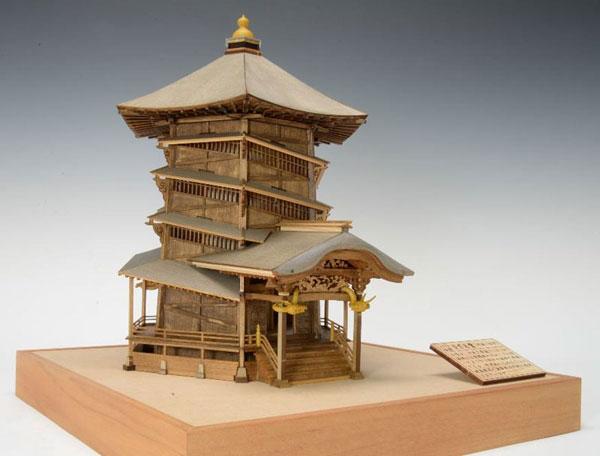 木製模型 1/75 会津さざえ堂(円通三匝堂)[ウッディジョー]【送料無料】《発売済・在庫品》