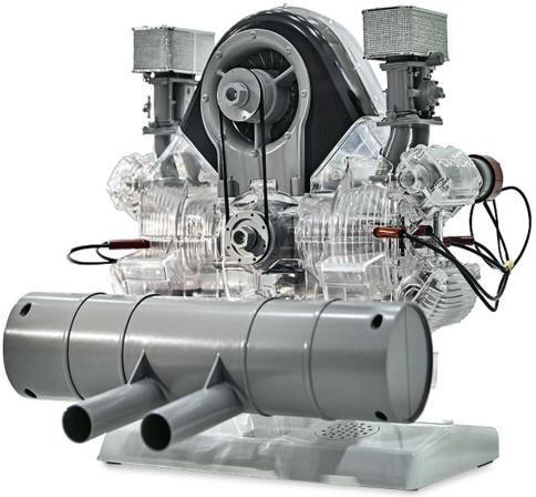 1/3 547型ポルシェ水平対向4気筒「フラット4 ボクサー」 カレラレース用エンジン 透明モデルキット (モーターライズ)[FRANZIS]【送料無料】《取り寄せ※暫定》
