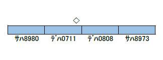 50618 東急8500系(青帯・ドア装飾編成)増結用中間車4両セット(動力無し) 完成品[グリーンマックス]【送料無料】《02月予約》
