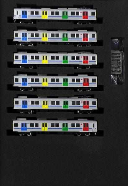 50617 東急8500系(青帯・ドア装飾編成)基本6両編成セット(動力付き) 完成品[グリーンマックス]【送料無料】《発売済・在庫品》