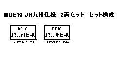 10-1534 DE10 JR九州仕様 2両セット [特別企画品][KATO]【送料無料】《01月予約》