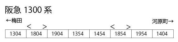 6004 阪急電鉄 1300系 8両編成セット[ポポンデッタ]【送料無料】《04月予約》
