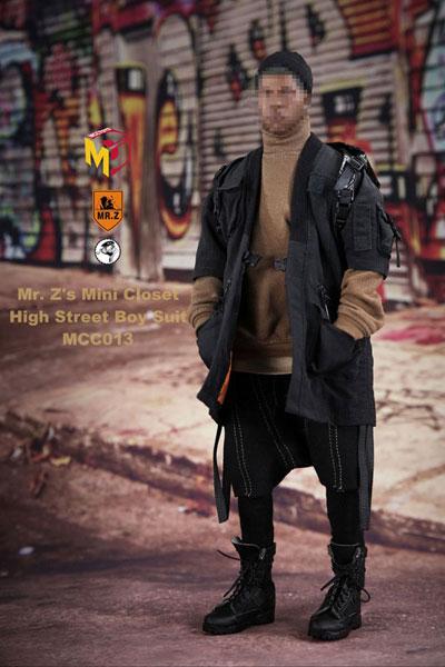 1/6 ハイ ストリート ボーイ セット ブラックローブ (ドール用)[MR.Z/MCCトイズ]《発売済・在庫品》
