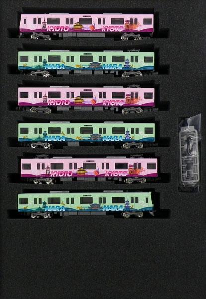 50620 近鉄3220系(KYOTO-NARAラッピング)6両編成セットII(動力付き) 完成品[グリーンマックス]【送料無料】《04月予約》