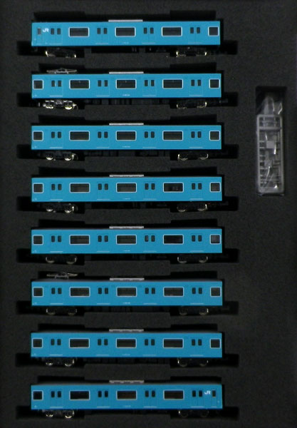 30267 JR201系体質改善車 スカイブルー 大阪環状線 8両編成セット(動力付き) 完成品[グリーンマックス]【送料無料】《発売済・在庫品》