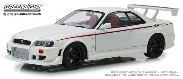 1/18 Artisan Collection - 1999 Nissan Skyline GT-R (R34) - Pearl White[グリーンライト]《02月仮予約》