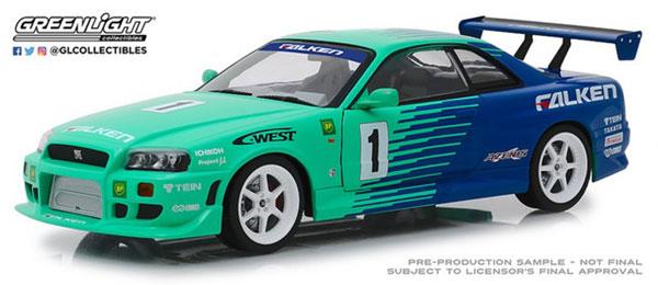 1/18 Artisan Collection - 1999 Nissan Skyline GT-R (R34) #1 - Falken Tires[グリーンライト]《02月仮予約》