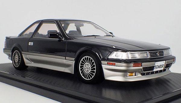 1/18 トヨタ Soarer (Z20) 2.0GT-TWIN TURBO L Black/Silver ※Normal-Wheel[イグニッションモデル]【送料無料】《04月予約※暫定》