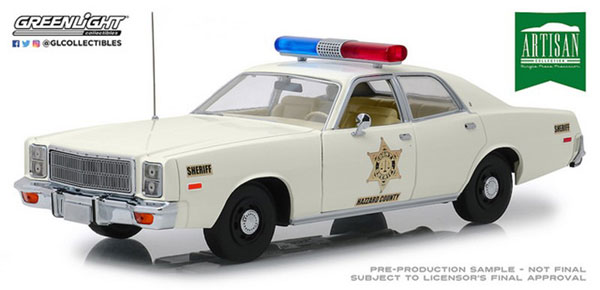 1/18 Artisan Collection - 1977 Plymouth Fury - Hazzard County Sheriff[グリーンライト]《01月仮予約》