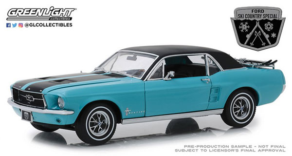 "1/18 1967 Ford Mustang Coupe ""Ski Country Special"" - Winter Park Turquoise[グリーンライト]《01月仮予約》"