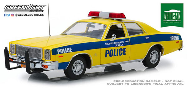 1/18 Artisan Collection - 1977 Plymouth Fury - Port Authority of New York & New Jersey Police[グリーンライト]《01月仮予約》