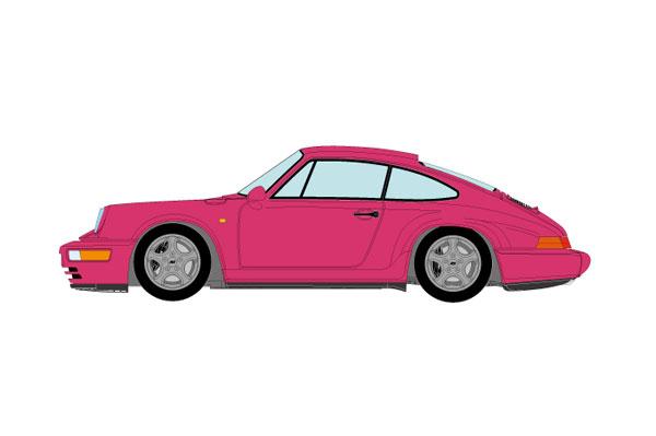 1/43 ポルシェ 911(964) カレラ RS クラブスポーツ 1992 ルビーストーンレッド[メイクアップ]【送料無料】《01月予約》