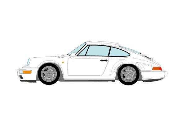 1/43 ポルシェ 911(964) カレラ RS クラブスポーツ 1992 ホワイト[メイクアップ]【送料無料】《01月予約》