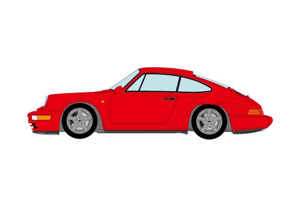 1/43 ポルシェ 911(964) カレラ RS クラブスポーツ 1992 ガーズレッド[メイクアップ]【送料無料】《01月予約》