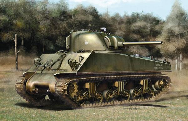 1/35 WW.II アメリカ軍 M4A3(75)W ETO シャーマン w/マジックトラック プラモデル[ドラゴンモデル]《12月予約※暫定》