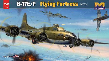 1/32 B-17E/F フライングフォートレス プラモデル(再販)[HK MODEL]【送料無料】《在庫切れ》