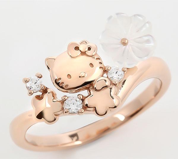 Hello Kitty Flower Bouquet リング PG 11号[アイ・ケイ]《発売済・在庫品》