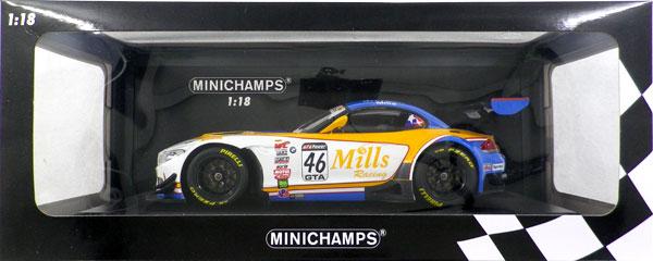 """1/18 BMW Z4 GT3 (E89) """"MILLS RACING"""" #46 WITTMER/MILLS チャンピオンズ ピレリ ワールド チャレンジ 2016[ミニチャンプス]《取り寄せ※暫定》"""