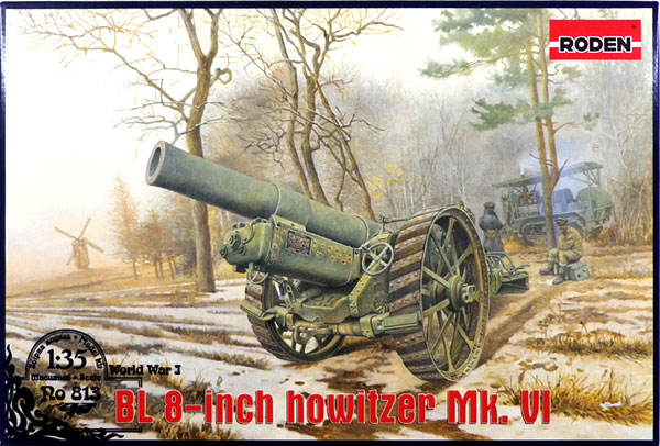 1/35 British BL8 inch field gun Mk VI, WW-1 plastic model [Rhoden] << out  of stock >>