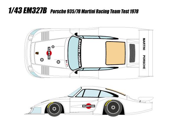 """1/43 ポルシェ 935/78""""マルティニ・レーシング""""テスト 1978[メイクアップ]【送料無料】《05月予約※暫定》"""