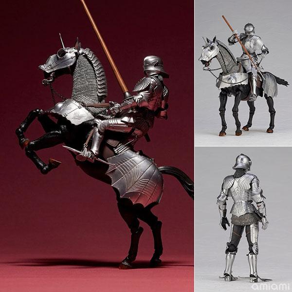 KT Project KT-027 タケヤ式自在置物 15世紀ゴチック式エクエストリアンアーマー シルバー[海洋堂]《発売済・在庫品》