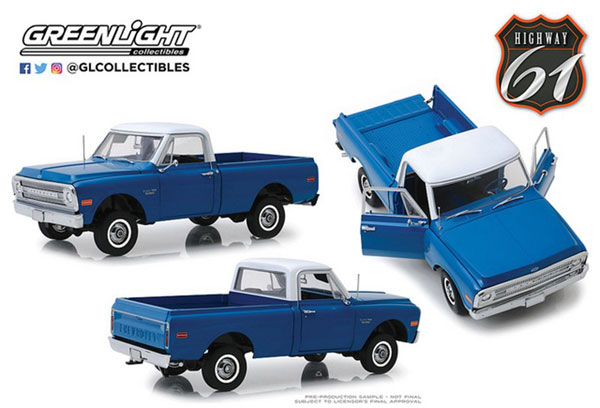 1/18 1970 Chevrolet C-10 with Lift Kit - Dark Blue Poly[Highway 61]《07月予約※暫定》
