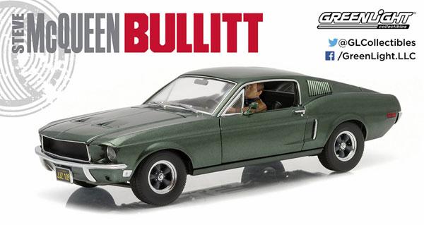 1/18 Bullitt (1968) - 1968 Ford Mustang GT Fastback - with Steven McQueen Figure driving[グリーンライト]《07月仮予約》