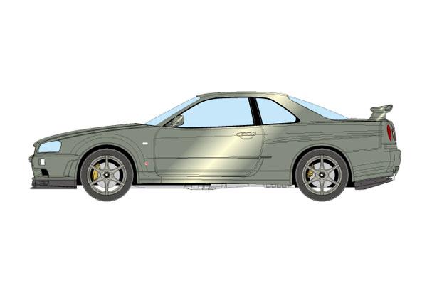 1/18 日産 スカイライン GT-R (BNR34) M-spec Nur 2002 ミレニアムジェイド[メイクアップ]【送料無料】《05月予約※暫定》