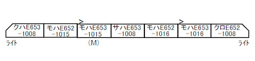 A4853 E653系-1000 特急色 7両セット[マイクロエース]【送料無料】《07月予約》