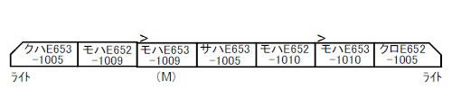 A7030 E653系-1000 いなほ 改良品 7両セット[マイクロエース]【送料無料】《07月予約》