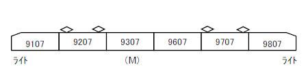 A8498 東京メトロ9000系 リニューアル 6両セット[マイクロエース]【送料無料】《07月予約》