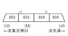A8361 京阪800系・旧塗装・旧マーク 4両セット[マイクロエース]【送料無料】《08月予約》