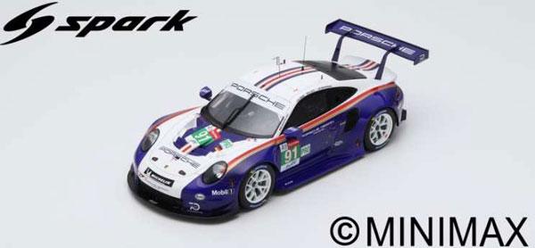 1/12 ポルシェ 911 RSR No.91 2nd LMGTE Pro class 24H Le Mans 2018Porsche GT Team[スパーク]【送料無料】《09月仮予約》