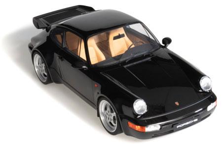 1/8 ポルシェ 911(964) 3.6 ターボ(ブラック)[GTスピリット]【同梱不可】【送料無料】《在庫切れ》